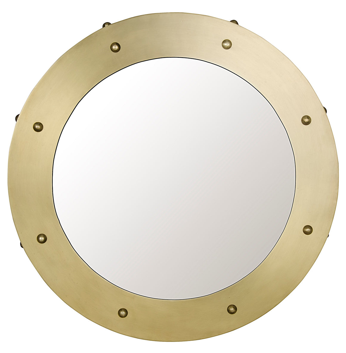 Noir Clay Mirror - Small - Antique Brass