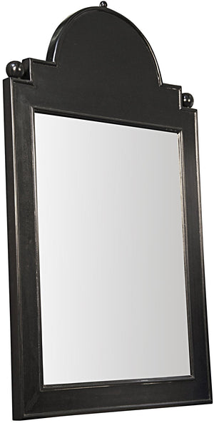 Noir Jess Mirror - Hand Rubbed Black
