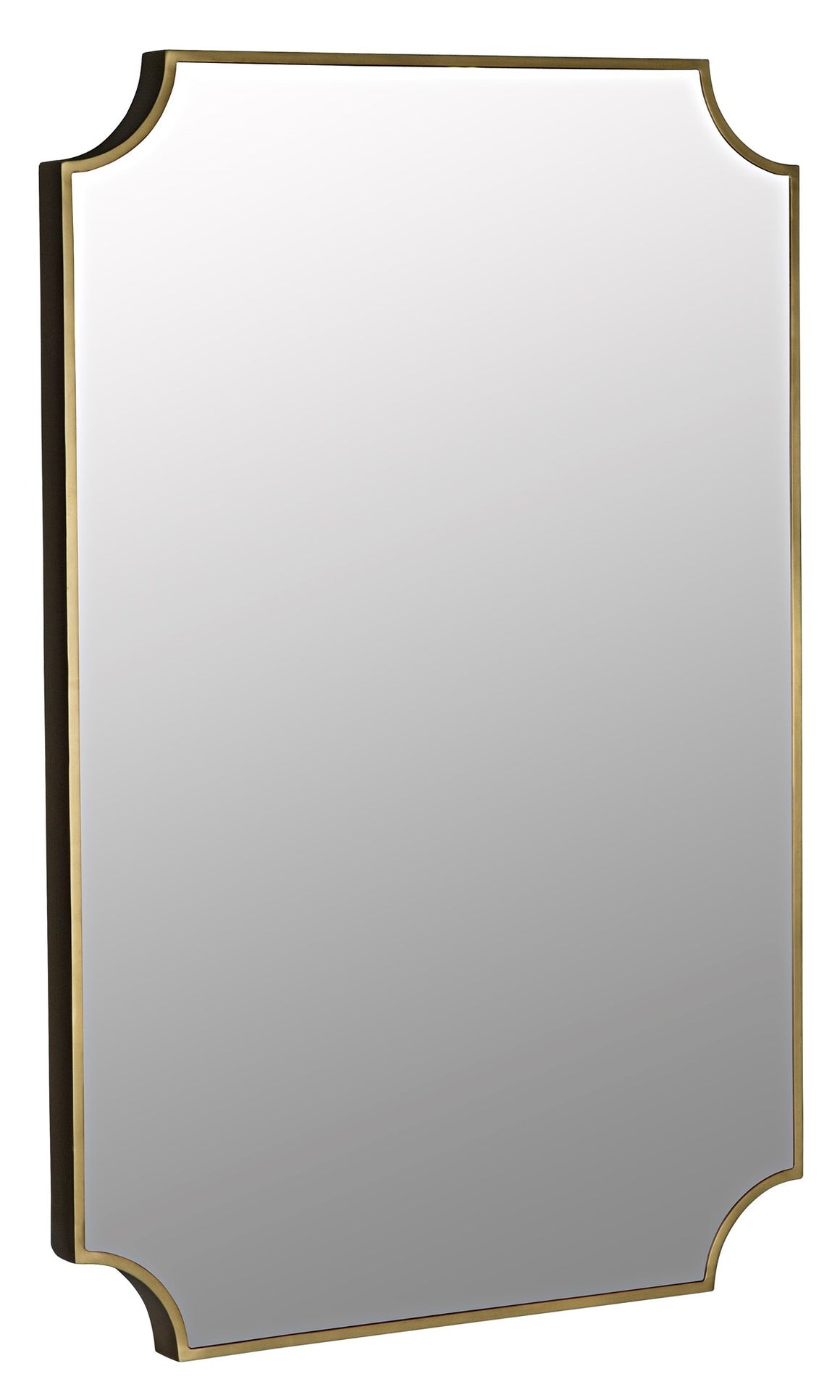 Noir Convexed Mirror - Metal Antique Brass