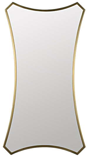 Noir Montague Mirror - Antique Brass