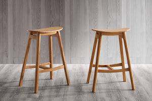 Skol Counter Height Stool, Caramelized, (Set of 2)