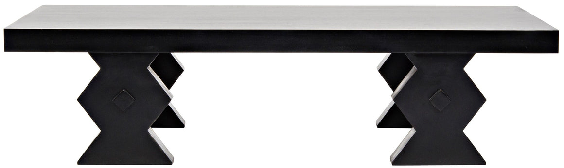 Noir Suzu Coffee Table - Hand Rubbed Black