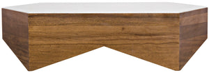 Noir Amsterdam Walnut Coffee Table - Quartz Top