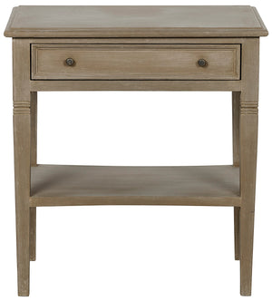 Noir Oxford 1-Drawer Side Table - Weathered