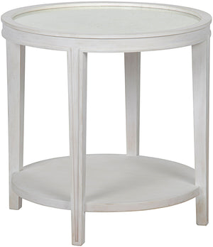 Noir Imperial Side Table - White Wash