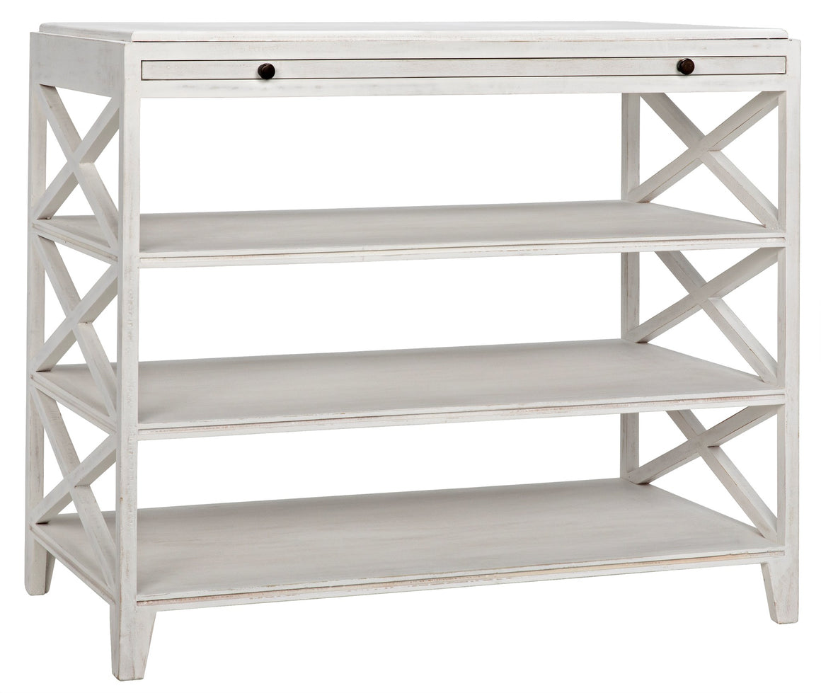 Noir Sutton Criss-Cross Table - White Wash