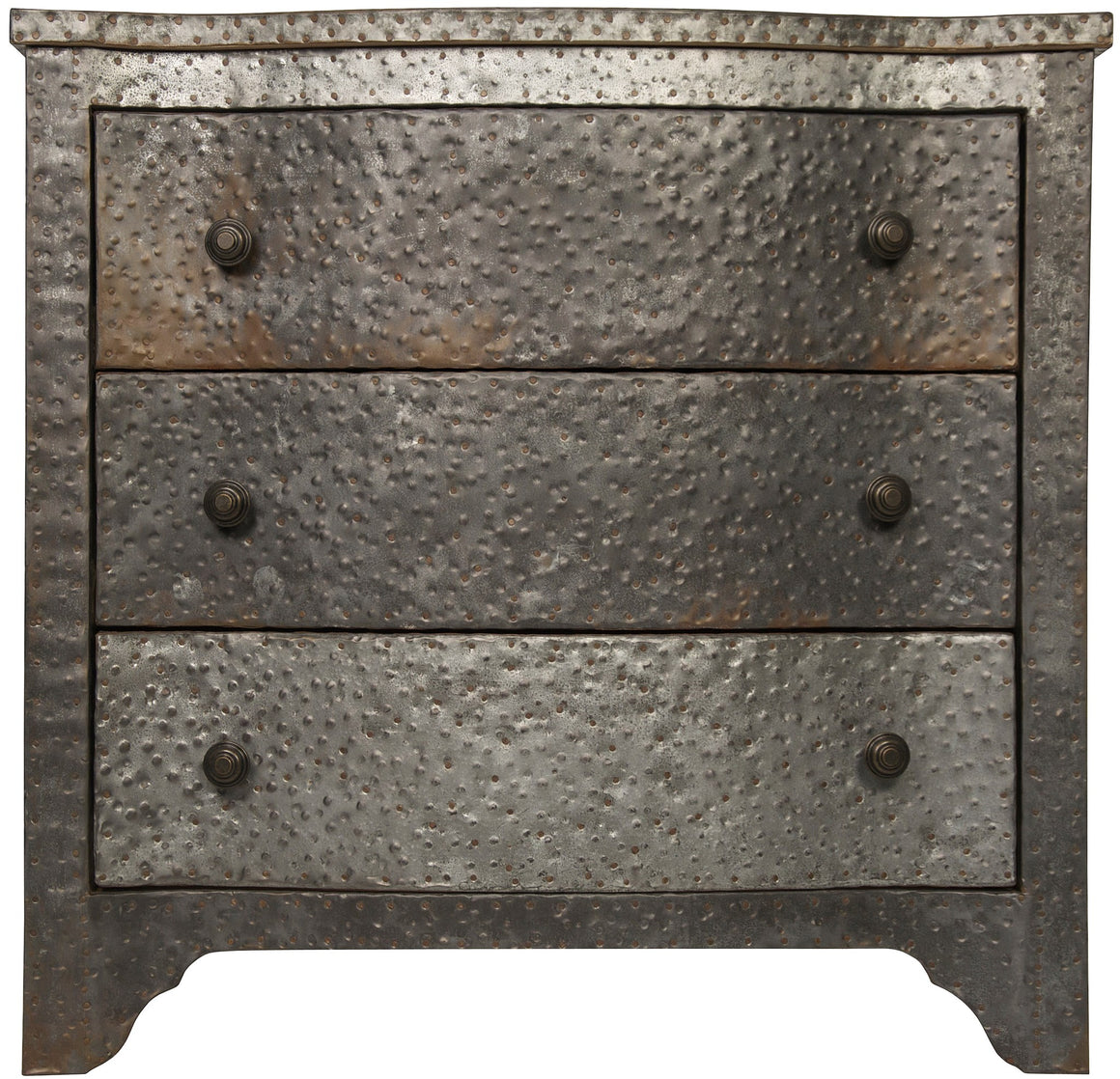 Noir 301 Textured Metal Chest - Zinc