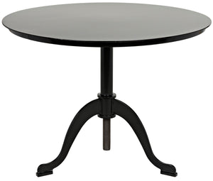 Noir Calder Side Table - Black Metal