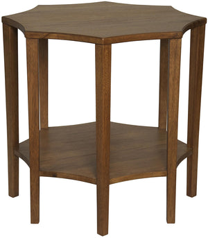Noir Ariana Side Table - Dark Walnut