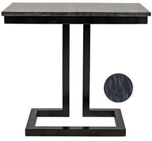 Noir Alonzo Rectangular Side Table - Black
