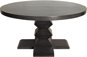 "Noir 60"" Zig Zag Base Dining Table - Pale Brown"