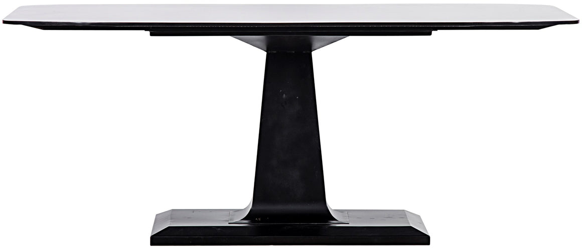 Noir Amboss Metal Dining Table - Black