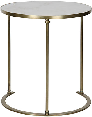 Noir Molly Side Table - A - Metal and Quartz