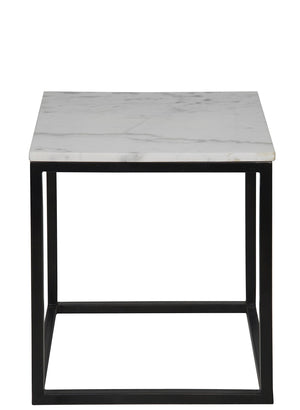 Noir Manning Side Table - Black Metal - Small