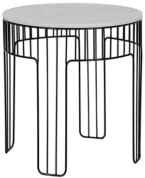 Noir Small Amadeus Wire Side Table - Black Metal