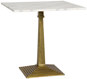 Noir Fadim Side Table - Antique Brass - Cast Iron and Quartz