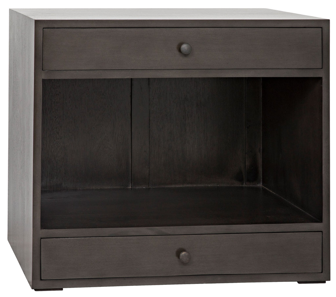 Noir Sumiko Side Table - Pale Charcoal Brown