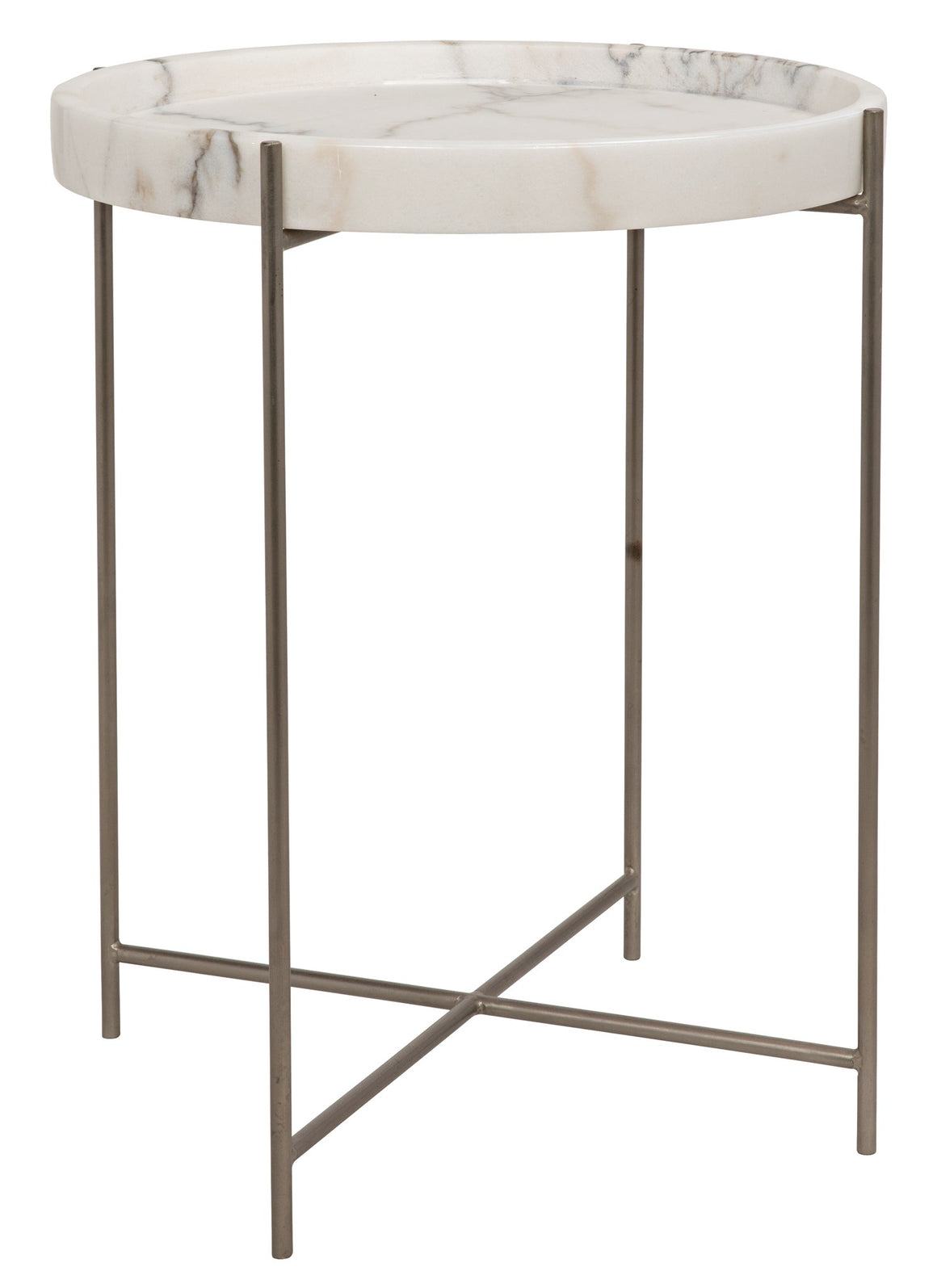 Noir Chico Side Table - Antique Silver