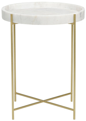 Noir Chico Side Table - Antique Brass