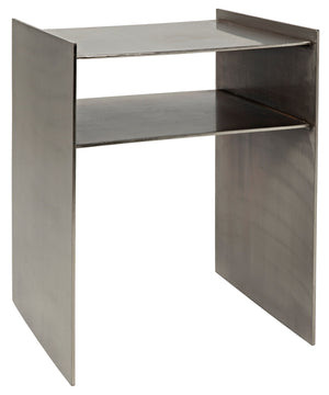 Noir Cyrus Side Table - Antique Silver