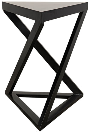Noir Orpheo Side Table - Black Metal