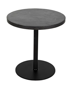 Noir Ford Stone Top Side Table - Low