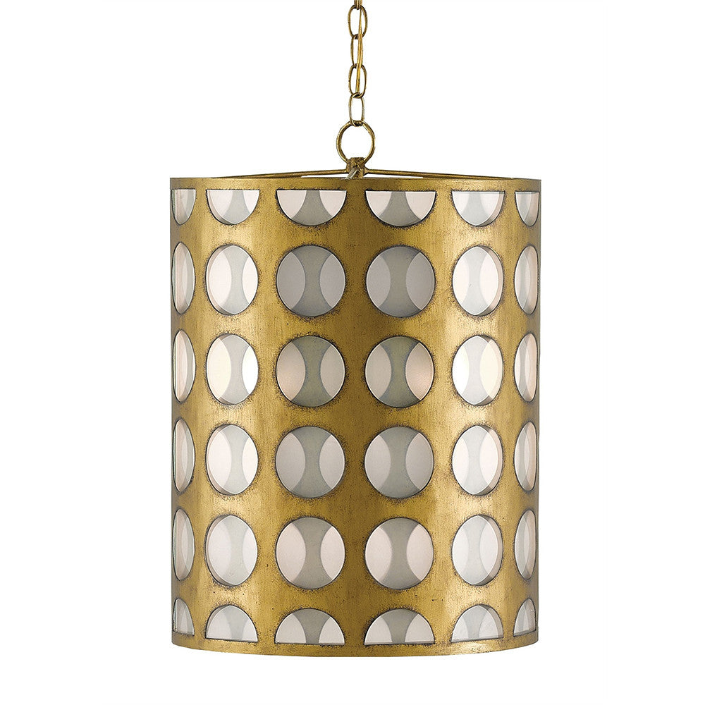 Currey and Company Go Go Circle Pendant Light – Antique Brass