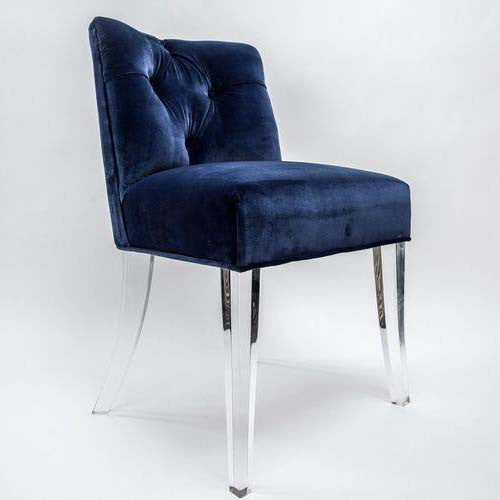 Grace Tufted Chair with Lucite Legs
