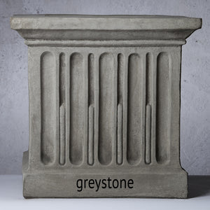 Cast Stone Ribbed Terrace Urn Planter - Alpine Stone (Additional Patinas Available)