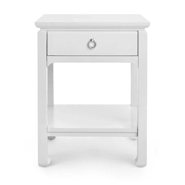 Bungalow 5 Modern Asian 1-Drawer Side Table – White