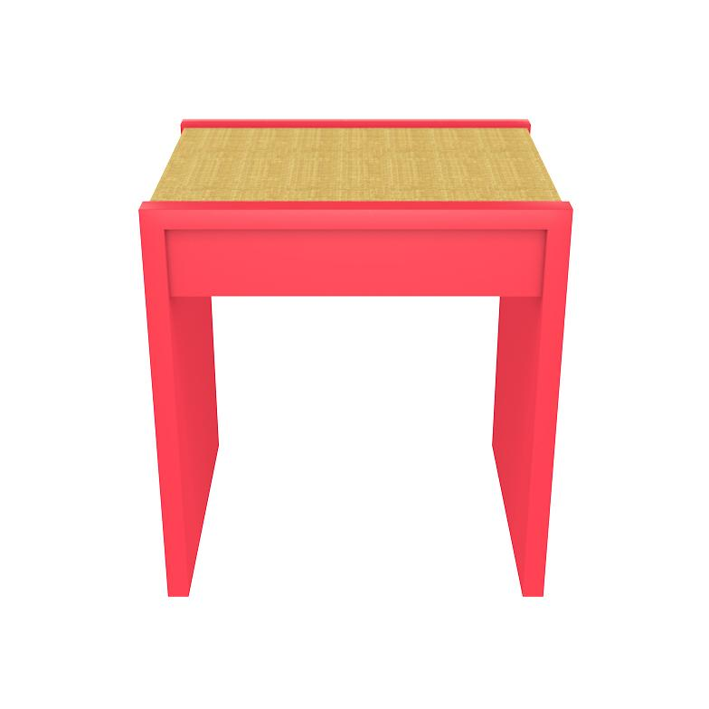 Harbour Island 1-Drawer Lacquer Side Table – Pink (19 colors available)
