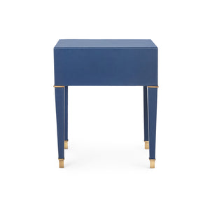 Bungalow 5 Hunter 2-Drawer Side Table, Navy Blue