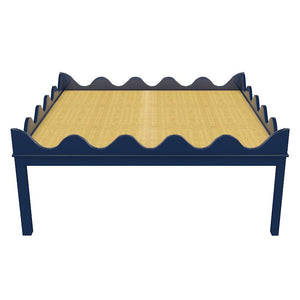 "Hobe Sound 48"" Lacquer Coffee Table - Navy (Additional Colors Available)"