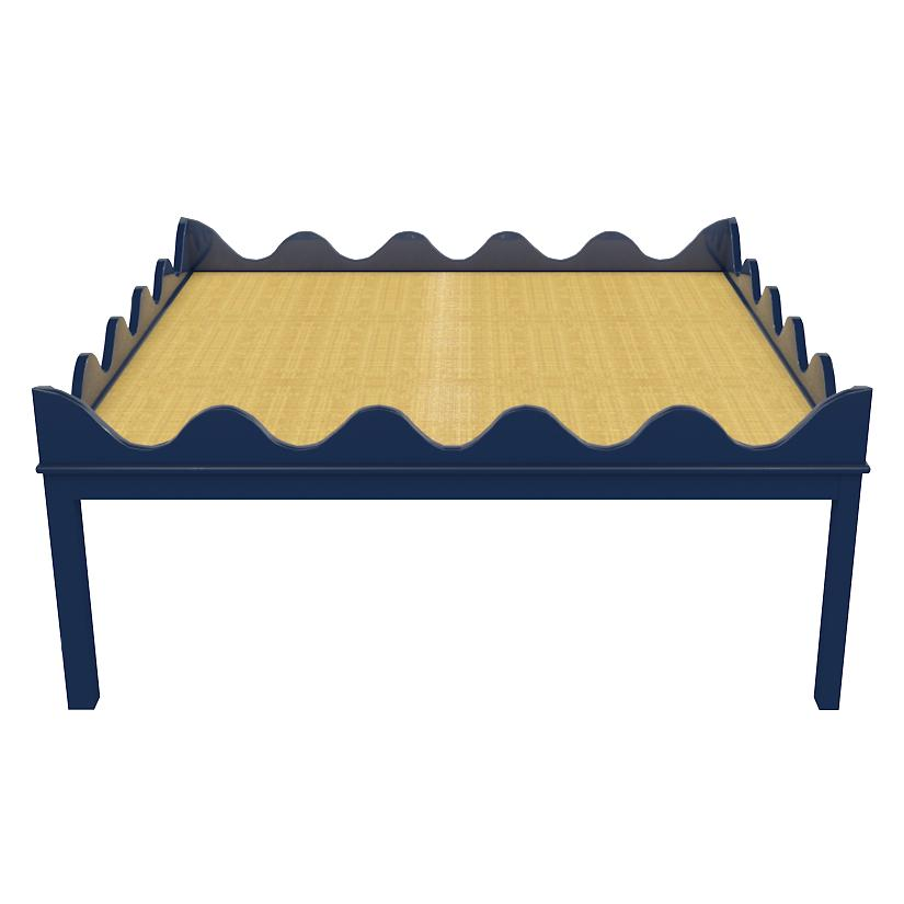 "Hobe Sound 48"" Lacquer Coffee Table - Navy Blue (19 colors available)"