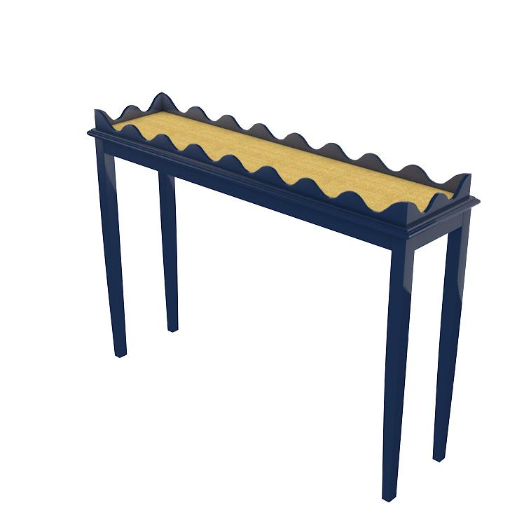 Hobe Sound Skinny Lacquer Console – Navy Blue (19 colors available)