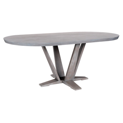 Herman Modern Oval Dining Table – 25 Finish Options