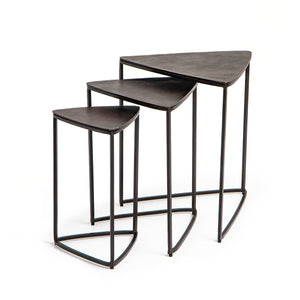 Raine Triangle Nesting Tables - Antique Rust