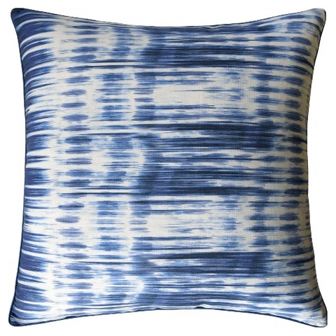 Ikat Stripe Pillow – Navy