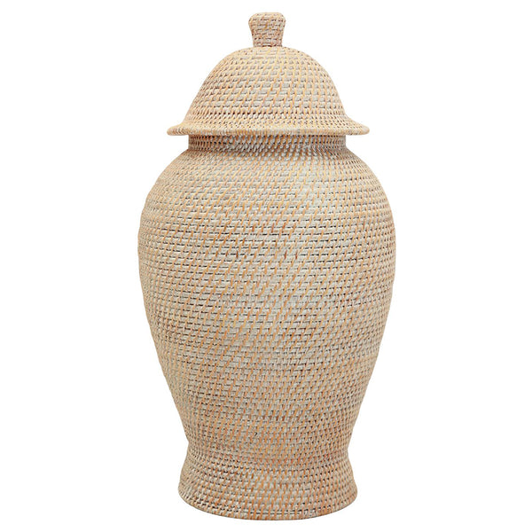 Bungalow 5 Extra Large Woven Reed Temple Jar – Natural
