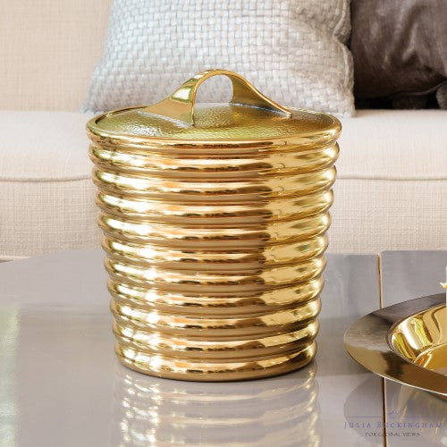Glam Stacked Rings Ice Bucket – Gold