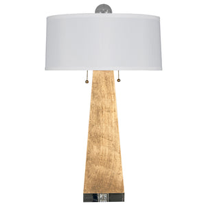 Worlds Away Jill Gilt Obelisk Table Lamp – Gold Leaf