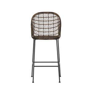 Bandera Outdoor Woven Bar Stool - Distressed Grey