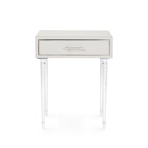 Bungalow 5 Jolene 1-Drawer Side Table, Gray