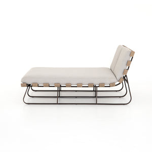 DIMITRI OUTDOOR DOUBLE CHAISE-STONE GREY