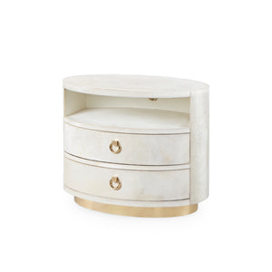 Bungalow 5 Julius 2-Drawer Side Table , White