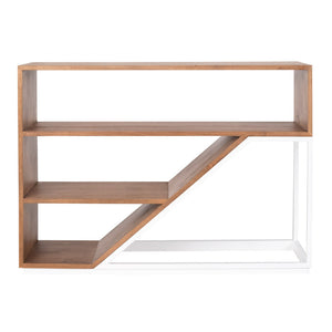 Jenson Modern Bookshelf with Iron Frame – 25 Finish Options