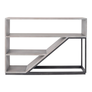 Jenson Modern Bookshelf with Iron Frame – Additional Finishes Available
