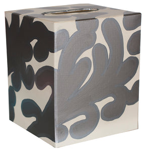 Worlds Away Decorative Tissue Box – Silver Branch Pattern