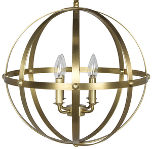 Noir 353 Small Orb Pendant - Antique Brass