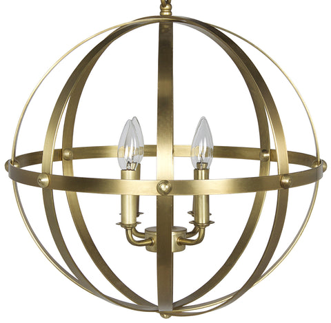 Noir 353 Pendant, Small, Antique Brass